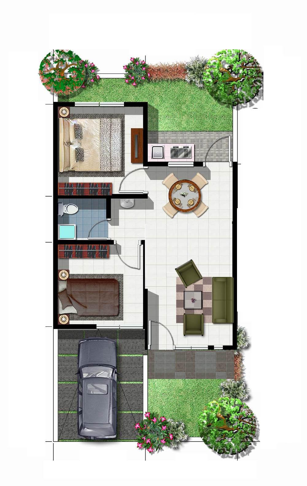 rumah minimalis type 36 modern sukaraja village rumah