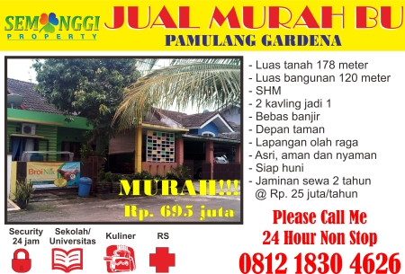 Pamulang Gardena for Sale