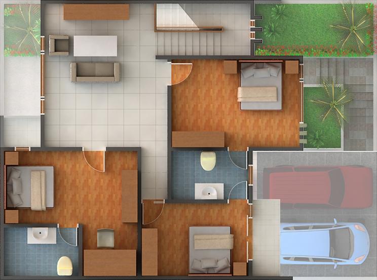 rumah minimalis 2 lantai sukaraja village rumah