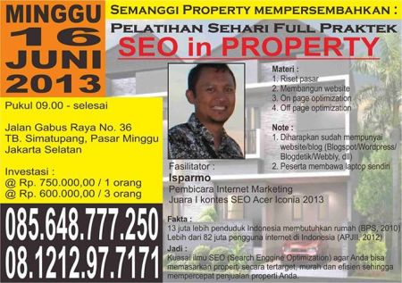 pelatihan seo in property