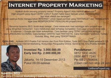 Workshop Internet Property Marketing